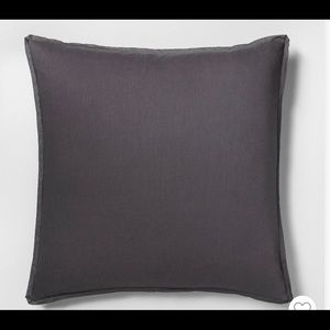 Euro Pillow Sham Railroad Grey Hearth & Hand New